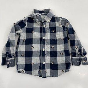 GAP Disney Mickey Mouse Button Down Shirt 3T